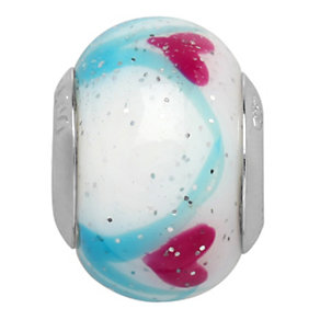 Charmed Memories Sterling Silver Pink & Blue Murano Bead - Product number 9802797