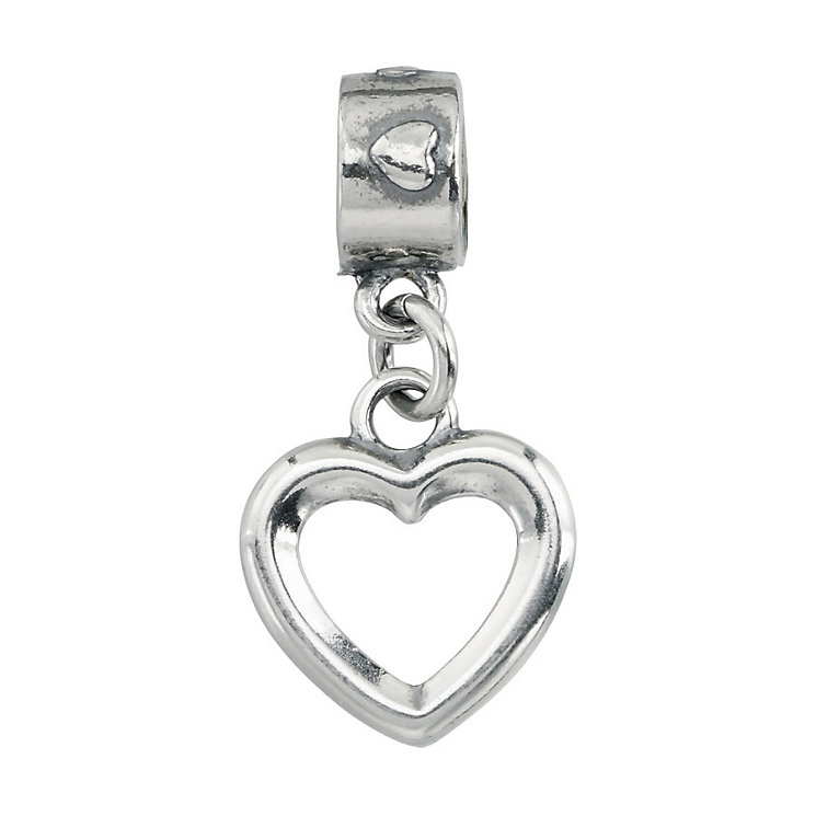 Charmed Memories Sterling Silver Heart Charm Bead - Product number 9802819