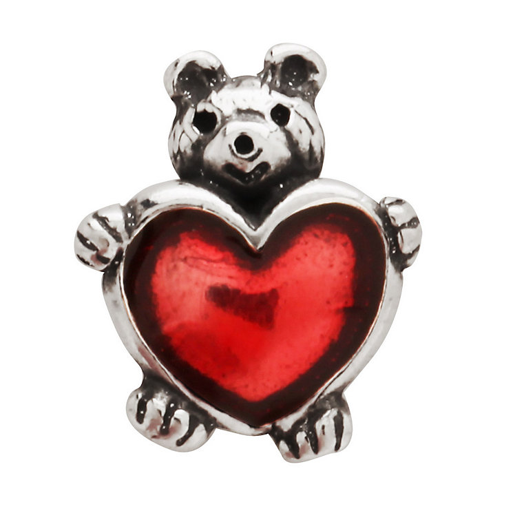 Charmed Memories Silver & Red Enamel Silver Teddy Bead - Product number 9803017