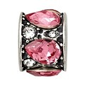 Charmed Memories Sterling Silver Pink Crystal Mosaic Bead - Product number 9803084