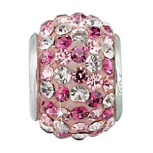 Charmed Memories Sterling Silver Pink & White Crystal Bead - Product number 9803211