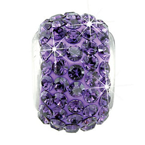 Charmed Memories Sterling Silver Dark Purple Crystal Bead - Product number 9803319