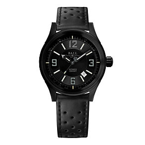 Ball Fireman Racer DLC men's black rubber strap watch - Product number 9803688