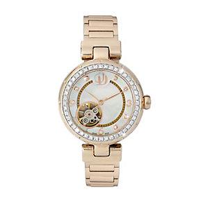Project D London ladies' rose gold plated bracelet watch - Product number 9804919