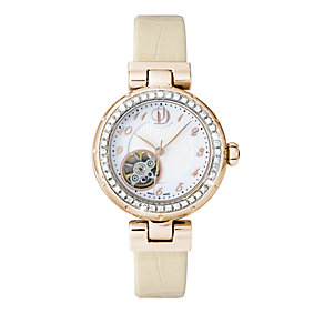 Project D London ladies' rose gold plated strap watch - Product number 9804935
