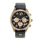 Project D London ladies' rose gold plated black strap watch - Product number 9804986