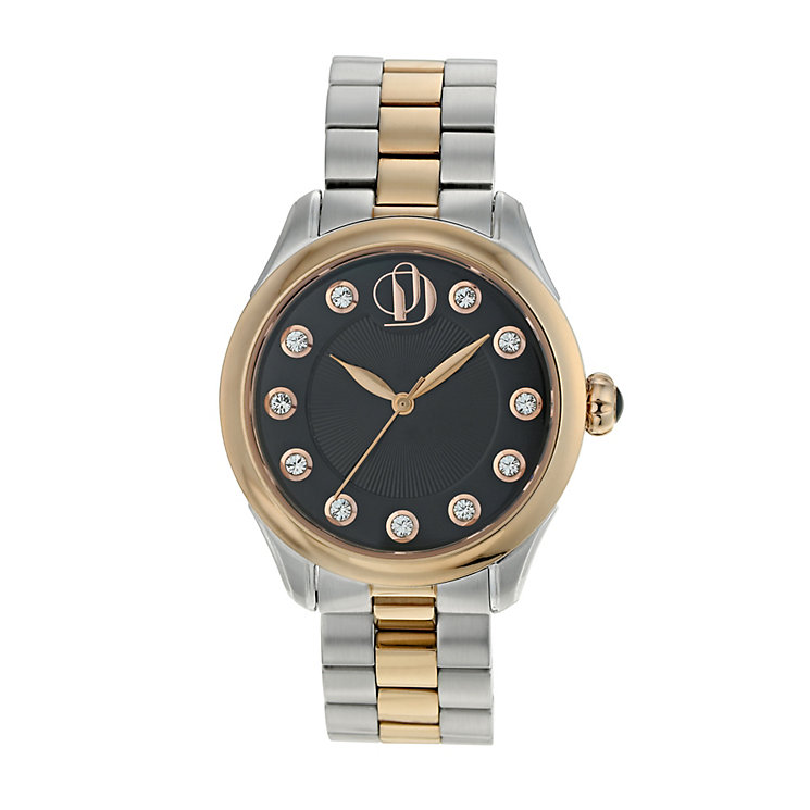 Project D London ladies' two colour bracelet watch - Product number 9805001