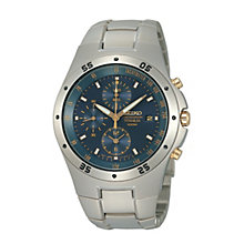 Seiko Men's Blue Dial Titanium Bracelet Watch - Product number 9805672