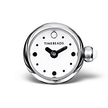 Charmed Memories Stainless Steel White Dial Timebead - Product number 9805915