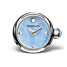 Charmed Memories Stainless Steel Blue Dial Timebead - Product number 9805923