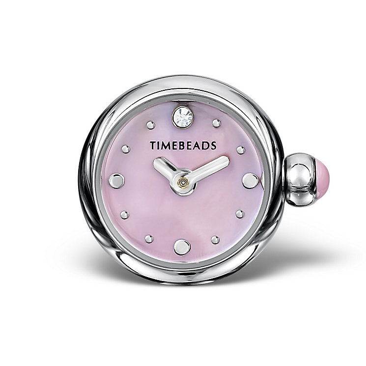 Charmed Memories Stainless Steel Pink Dial Timebead - Product number 9805931