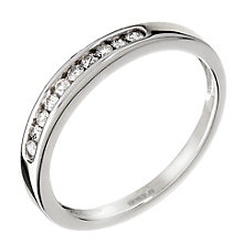 9ct white gold 15pt diamond eternity ring - Product number 9806601