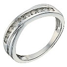 9ct white gold 1/3 carat diamond crossover eternity ring - Product number 9807276