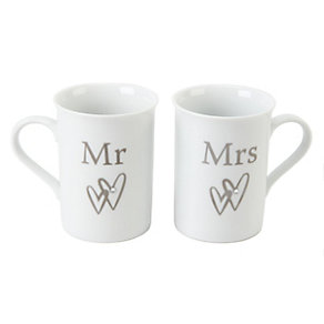 Special Memories Mr & Mrs Set of Two Mugs - Product number 9808302
