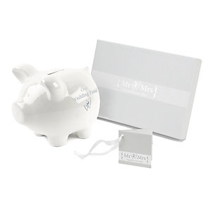 Special Memories Mr & Mrs Wedding Fund Piggy Bank - Product number 9808434