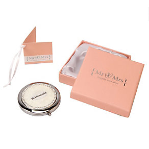 Special Memories Mr & Mrs Bridesmaid Compact Mirror - Product number 9809457