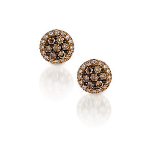 Le Vian 14ct Honey Gold® 0.66ct Chocolate Diamond® earrings - Product number 9810226