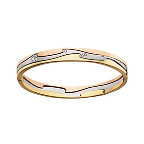 Georg Jensen Fusion 18ct three gold 23pt diamond bangle - Product number 9810994