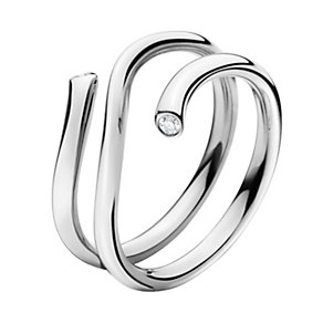 Georg Jensen Magic 18ct white gold diamond end ring - Product number 9812849