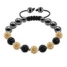 Tresor Paris champagne & black crystal bracelet - Product number 9819924