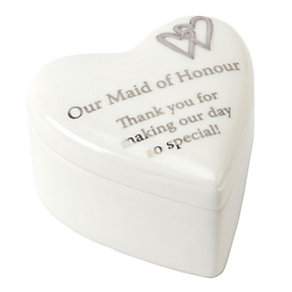 Special Memories Ceramic Maid Of Honour Heart Trinket Box - Product number 9822704