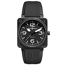 Bell & Ross Carbon men's 46mm black ion-plated strap watch - Product number 9825053