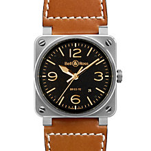 Bell & Ross Heritage men's 42mm steel brown strap watch - Product number 9825096
