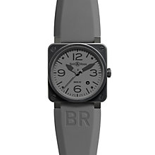 Bell & Ross Commando men's 42mm black ion-plated strap watch - Product number 9825126