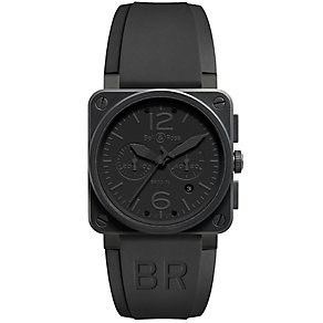 Bell & Ross Phantom men's 42mm ion-plated chronograph watch - Product number 9825398