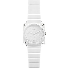 Bell & Ross Ceramic ladies' 39mm white bracelet watch - Product number 9825452