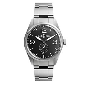Bell & Ross Vintage men's stainless steel bracelet watch - Product number 9825495