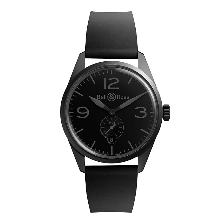 Bell & Ross Phantom men's black ion-plated strap watch - Product number 9825525
