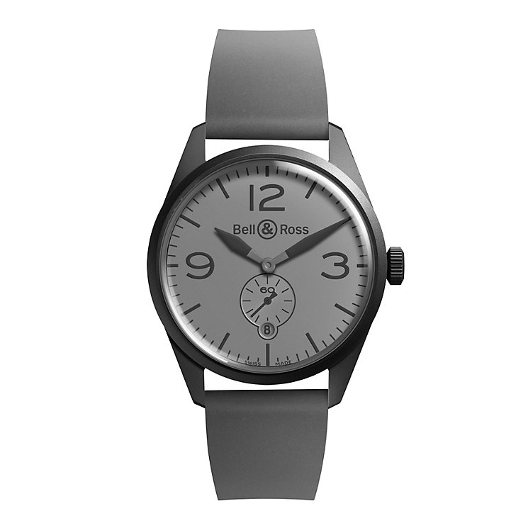 Bell & Ross Phantom men's black ion-plated strap watch - Product number 9825533