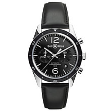 Bell & Ross Vintage men's chronograph black strap watch - Product number 9825592