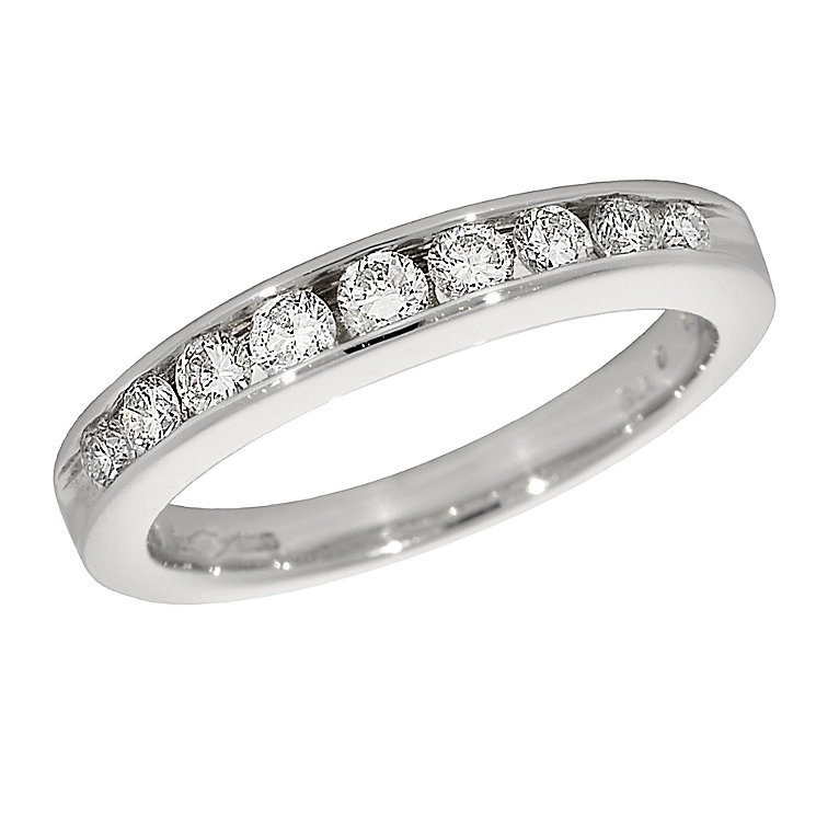 Platinum half carat diamond half-eternity ring - Product number 9826157