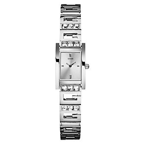 Guess Ladies' Rectangle Stainless Steel Bracelet Watch - Product number 9853928