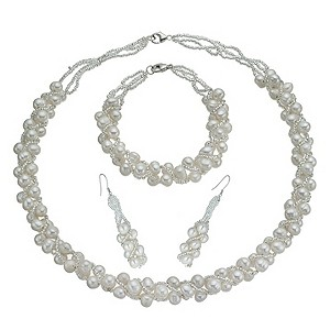 Cultured Freshwater Pearl Three Piece Set - Product number 9858687