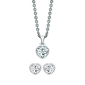 Radiance With Swarovski Crystal Heart Pendant & Earrings Set - Product number 9865942