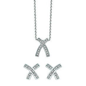 Radiance With Swarovski Crystal Kiss Pendant & Earring Set - Product number 9866299