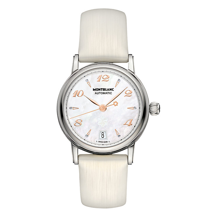 Montblanc ladies' white leather strap watch - Product number 9891935