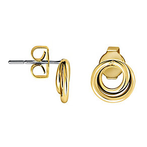 Calvin Klein Continue gold-plated stud earrings - Product number 9894608