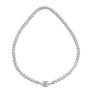 Sterling Silver Cultured Freshwater Pearl Vintage Necklace - Product number 9898360