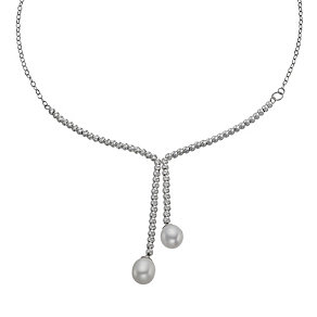 Pearl Sterling Silver Lariat Necklace - Product number 9898735