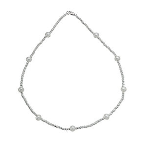 Pearl Sterling Silver Cultured  Pearl Necklace - Product number 9898743