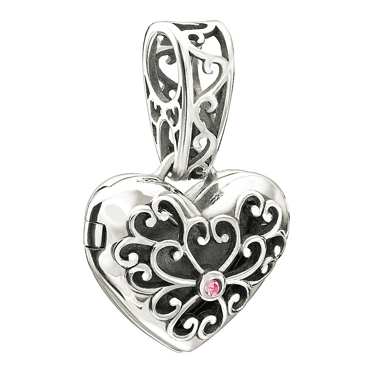 Chamilia In My Heart Locket pink Swarovski element bead - Product number 9900225
