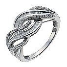 Sterling silver 27 point diamond ring - Product number 9900918