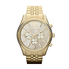 Michael Kors Men's Gold Tone Bracelet Watch - Product number 9901256