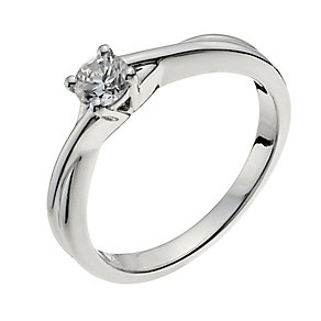 18ct white gold 25pt diamond solitaire H/I -I1 certified - Product number 9901795