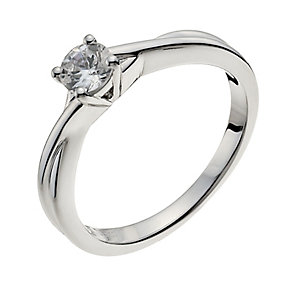 18ct white gold 33pt diamond solitaire H/I -I1 certified - Product number 9901922