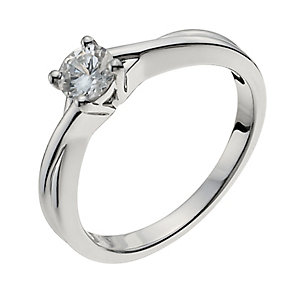18ct white gold 40pt diamond solitaire H/I -I1 certified - Product number 9902066